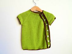 Baby sweater Green bamboo knit baby vest baby by ATLASKNITSHOP, $25.00