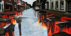 Optical Illusions Edgar Mueller's 'Lava Burst' – Geldern, Germany How To Choose The Right Fridge & F Edgar Mueller, Time In The World, Another World, Lava, 3d Street Art, Outdoor Venues, Illusion Art, New Perspective, Banksy