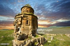 ストックフォト : The Armenian church of St Gregory of the Abughamrents, Ani archaelogical site on the Ancient Silk Road , Kars , Anatolia, Turkey