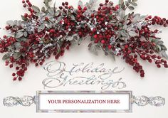 Holiday Spray - OutFront Greeting Cards Out Front Greeting Cards - Hundreds to choose from.. Personalized just for you!