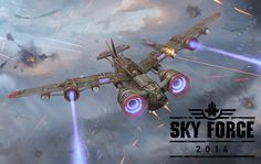 Sky Force 2014 – Apps para Android e iPhone disponível n Play Store do Google Play e iTunes, confira esse game de nave fantástico. Faça o download aqui!