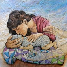 Surrender by Maria Elkins -- This quilt is so emotional and loving.