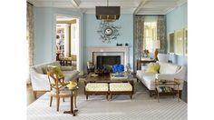 Light Transitional Living Room - Home and Garden Design Ideas