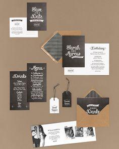 Tafelkreide - Papeterie, Hochzeitspapeterie, Karten, Einladung, Kirchenheft, Danksagung, Save-the-Date, Menü, Programmheft, Hochzeitszeremonie
