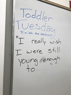I really wish I were still young enough to...