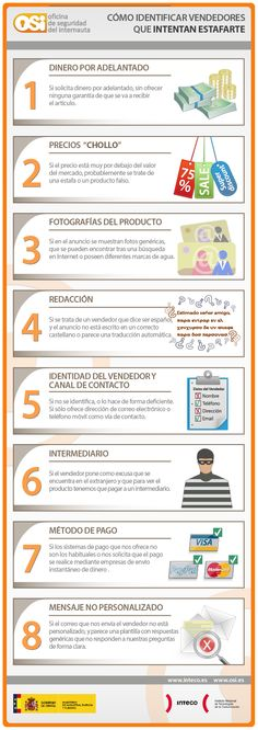 #Infografía sobre cómo identificar estafadores en ventas online #seguridadonline