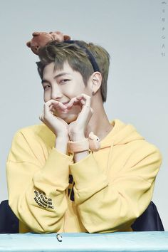 And this is why namjoon is my bias  look at this cutie. I wouldn't mind being his jagiya
