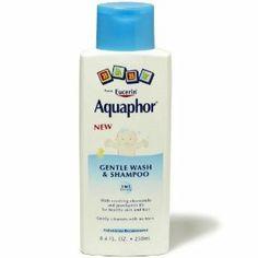 Aquaphor Baby Gentle Wash & Shampoo - this actually helps the cradle cap a bit