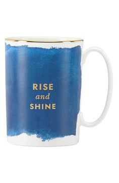 Free shipping and returns on kate spade new york 'posy court' mug at Nordstrom.com. Awaken yourself with this clever porcelain mug adorned with a gilt phrase that helps make your morning coffee a little more eye-opening.