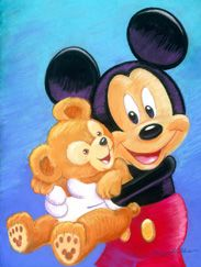 Disney Design Group Senior Character Artist Monty Maldovan Artwork Featuring Mickey and His Pal Duffy the Disney Bear Walt Disney, Disney Mickey Mouse, Retro Disney, Mickey Mouse Y Amigos, Mickey Love, Mickey Mouse And Friends, Cute Disney, Disney Art, Mickey Mouse Pictures