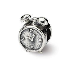 0d0cff997 Sterling Silver Alarm Clock Bead Charm For Pandora, Biagi, Chamilia &  European Bracelets, Women Jewelry