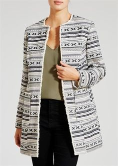 Textured Long Jacket