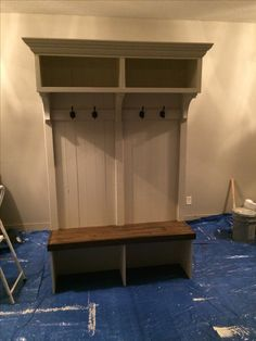 Custom Crafted Entryway Bench with Storage