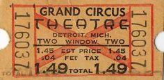 Grand Circus Ticket $1.49