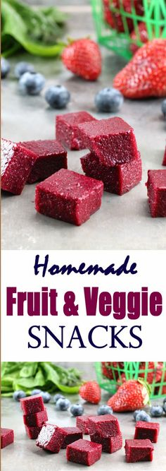 Homemade Fruit and Vegetable Snacks