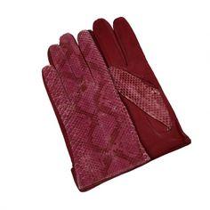 Manusi Necaptusite din Piele de Piton, Bordeaux Leather Wallet, Exotic, Gloves, Elegant, Crafts, Accessories, Women, Fashion, Classy