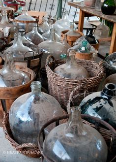 So many demijohns in store too, but already cleaned up for you!