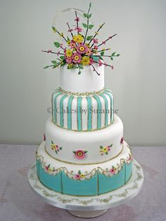 Cake Wrecks - Home - Sunday Sweets: Grandma's Kitchen Counter Gorgeous Cakes, Pretty Cakes, Amazing Cakes, Cake Wrecks, Pastel Wedding Cakes, Fondant, Fancy Cakes, Pink Cakes, Occasion Cakes