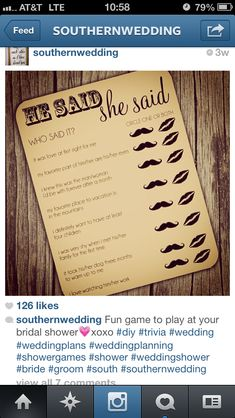 Fun DIY games that can be made and played over the phone to have the bride and groom confirm the correct answers. Great for weddings on a budget or bachelorette parties on a budget.