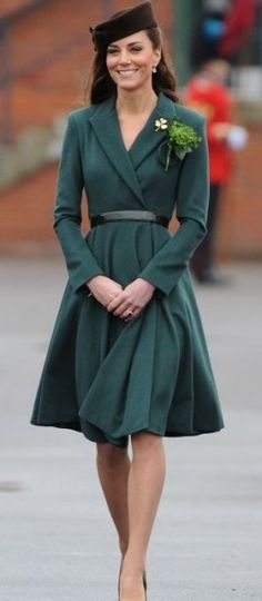 Kate Middleton's style: Irish coat-dress designed by Emilia Wickstead