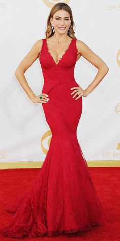 Emmy Arrivals 2013 ..sofia vergara  (kaley cuoco was my first choice but she wasn't on this list)