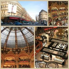 Galeries Lafayette and Printemps are heavenly spots for shoppers! You'll find a little bit of everything at these huge department stores. Even if you're not a shopper, do stop in Galeries Lafayette to see the beautiful Art Nouveau glass dome in the center of the store. If you are in the mood for some shopping, be sure to pick up your 10% tourist discount card at the information desk upon arrival!