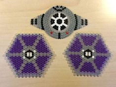 TIE Fighter - Star Wars original perler bead design by Guus Oosterbaan Diy Perler Beads, Perler Bead Art, Pearler Beads, Pearler Bead Patterns, Perler Patterns, Perle Hama Star Wars, Pixel Art, Anniversaire Star Wars, Star Wars Party