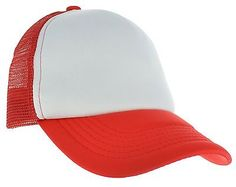 23349e0411f Five panel trucker flat bill cap made of 100% polyester with nylon ...