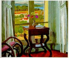 Interior with a Table, Vanessa Bell, 1921.