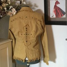 G. Designs cross jacket Good condition but does have one stain on the inner right wrist area. This was made in Peru. 100% cotton. G. Designs Jackets & Coats