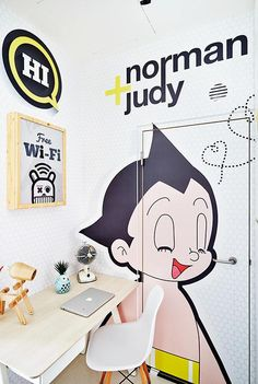 Fun and cheery one-bedroom condominium unit, photo 8 of 8 Bomb Shelter, Image Glass, Getting Rid Of Clutter, Astro Boy, Typography Poster, One Bedroom, Home Improvement Projects, My Dream Home, Decoration