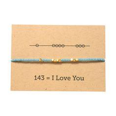 I Love You 143 Friendship Bracelet - Blue – Sunday Girl by Amy DiLamarra