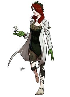 Wanted an Ivy to go with my Harley design. Dc Poison Ivy, Poison Ivy Dc Comics, Poison Ivy Cosplay, Poison Ivy Costumes, Poison Ivy Batman, Poison Ivy Character, Comic Character, Character Design, Talia
