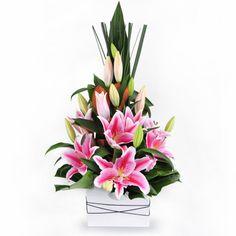 Lipstick - divine and elegant pink oriental lilies.