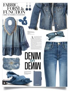 """""""All Denim, Head To Toe"""" by sinesnsingularities ❤ liked on Polyvore featuring Sans Souci, Hollister Co., MICHAEL Michael Kors, Dorothy Perkins, Steve Madden, Valentino, Nine West, N°21, Vera Wang and Frame"""