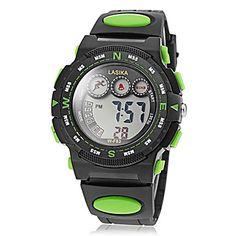 Herren-LED runden Zifferblatt Rubber Band Quarz Analog Sport-Uhr (verschiedene Farben) – CAD $ 9.70