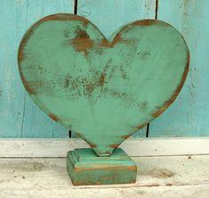 Heart - Wooden - Wood - Shabby Decor - Beach House - Home Decor - What wood your heart love?