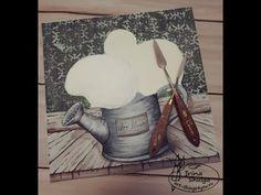Рельефная живопись декоративной штукатуркой. Букет с гортензиями. Часть 1. Подготовка фона.