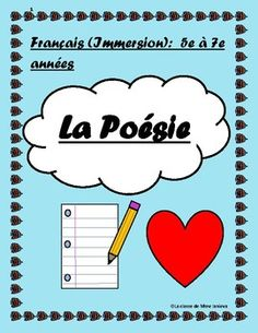 Poetry can be difficult for kids, especially when it is in another language. Here is my introduction to poetry. I have done this unit with my grade 5 to 7 Middle French Immersion students with success. I normally leave this unit to the end of the year simply because poetry can be so abstract.In this booklet you will find an explanation of various terms and concepts (ex.