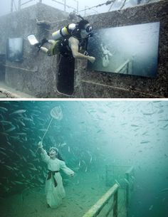 An underwater art gallery (and unusual scuba diving spot) off Key West, Florida