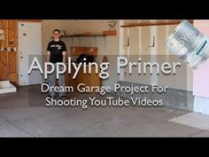 Applying Primer To Dry Wall in Garage