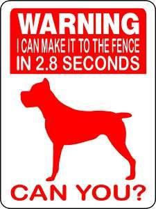 For my boy Zeus...at 165lbs he can make it to the fence in less than 2.8 seconds :)
