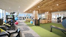 Der Fokus liegt auf 4 Säulen Sport Regeneration Ernährung Beauty Wellness, Sauna, Basketball Court, Gym, Beauty, Exercise Rooms, Beleza, Cosmetology, Work Outs