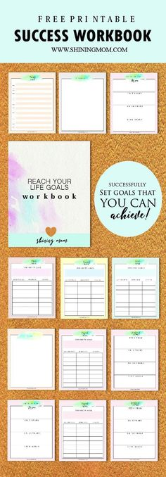 Free Success Workbook: Achieve Your Life Goals! - - I'm totally thrilled to be sharing your free Success Workbook today. It's the kind of workbook that will let you identify your ultimate life goals. Yup, it will inspire you to have a so…. Goals Printable, Printable Planner, Free Printables, Goal Setting Life, Goal Settings, Blogging, Goal Setting Worksheet, Goals Worksheet, Goal Planning