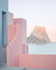 There is something about dusky #pink that i just love - La Muralla Roja Spain by architect Ricardo Bofill #architecture #designfabulous