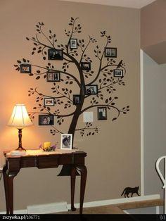 My tree... pero en lugar de fotos una Buena frase!