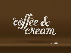 hand lettering coffee & cream love