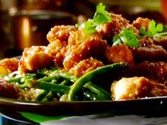 Sesame Chicken recipe from Tyler Florence via Food Network