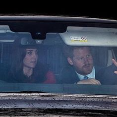 George AND Charlotte were at the Queen's Christmas lunch with Kate & Harry, today! Prince William And Kate, William Kate, Duke And Duchess, Duchess Of Cambridge, Kate And Harry, Diana Williams, Royal Uk, Christmas Lunch, Princess Charlotte