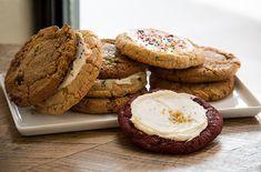 Schmackary's Red Velvet, Chocolate Chip, Funfetti Cookies http://www.chekmarkeats.com/schmackarys-cookies/
